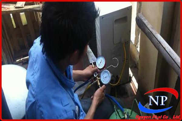 Bơm gas máy lạnh cho các hộ gia đình